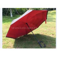 Quality Fashional Reflective Opposite Folding Umbrella , Inside Out Umbrella As Seen On Tv for sale