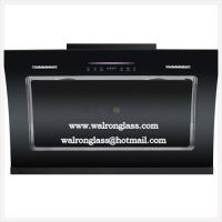 Quality Kitchen Hoods, Smoke Extractor with Black Silk Screen Tempered/Toughened glass for sale