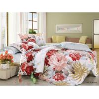 Quality Polyester Cotton Blend 4 Piece Bedding Set Embroidered Flower Printed for sale