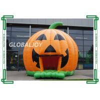 Quality Flame Retardant Kids Inflatable Bouncer House Halloween Pumpkin Bouncy Castle for sale