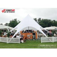 Quality Custom Made Outdoor Shade Tent , 16M 150 People Star Hire Tents Flame Retardant for sale