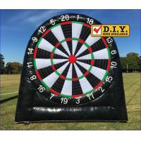 Quality Rental Inflatable Sports Equipment Football Game Giant Inflatable Dart Board for sale