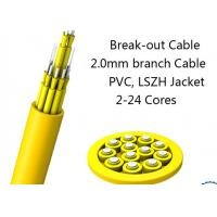 24 Fiber Multimode Fan-Out Indoor Breakout Fiber Optic Cable With High Strength