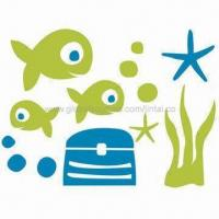 Quality Stickers for Wall Decoration, Made of PVC and Vinyl, Customized Designs are Accepted for sale