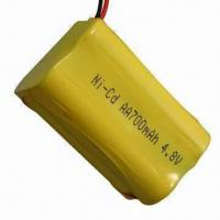 China NI-CD Rechargeable Battery Pack with AA700mAh Capacity and 4.8V Voltage on sale