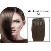 Quality Brazilian 4# Clip In Virgin Hair 18 Or 20 Inch Hair Extensions for sale