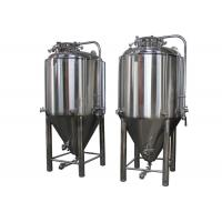Quality Automatic Jacketed Conical Beer Fermenter 530 X 430mm Side Manway for sale