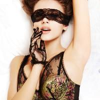Quality Ladies Sexy Lace Soft Pad Blindfolded Patch Bondage Sex Toys Eye Mask for sale