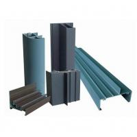 Quality OEM 6005 Wood Grain Coated Aluminum Window Extrusion Profiles For Hotel Doors And Windows for sale
