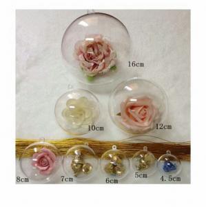 Buy 4.5cm 5cm 6cm 7cm 8cm 10cm 12cm plastic ball pot Christmas candy packaging at wholesale prices