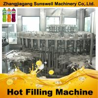 Quality Fully Automatic Juice Filling Machine , 3-in-1 PET Bottle Juice Producing Line for sale