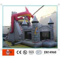 Quality Outdoor Large Animal Theme Inflatable Dry Slides Durable For Kids EN14960 for sale