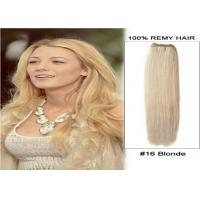 Quality Double Weft Virgin Peruvian Hair Colored Human Hair Extensions 24 Inches for sale