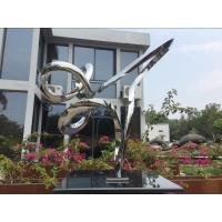 Quality Outdoor Abstract Small Garden Sculptures , Modern Stainless Steel Sculpture for sale