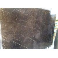 Quality Black Countertop Marble Slab With White Vein , Solid Large Marble Slab for sale