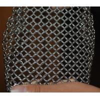 Quality 304 Stainless Steel Chainmail Scrubber Kitchen Cast Iron Hardware Cleaner 7 * 7 inch for sale