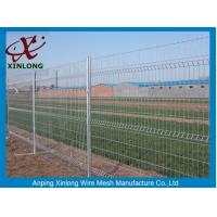Quality 3D Curved Green Pvc Coated Wire Mesh Fencing For Highway Sport Field Garden for sale