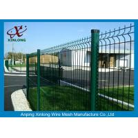 Quality Waterproof Welded Wire Fence Panels 3D Curved For Backyard , Galvanized Iron Wire Material for sale