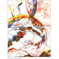 Quality abstract painting wall picture flower art for sale