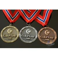 Buy cheap Noway Country Large Award Medals Recessed With Texture Antique Gold Silver from wholesalers