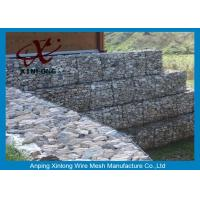 Quality Galfan Galvanized Gabion Box , Gabion Wall Baskets For Riverbed Garden for sale