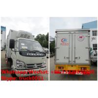Quality HOT SALE! Factory sale good price forland 4*2 RHD 4tons refrigerator truck with USA CARRIER reefer for Mozambique for sale