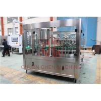 Quality Monoblock Glass Bottle Filling Line 3 In 1 Juice Rinsing Filling Sealing Machine for sale