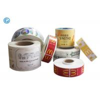 Varnish Surface Printed Self Adhesive Labels For Advertising ISO CE Waterproof Adhesive Labels for sale