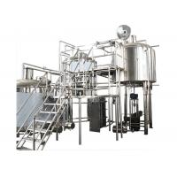 Quality 200 Gallon Stainless Steel Commercial Beer Making Equipment With Hot Liquor Tank for sale