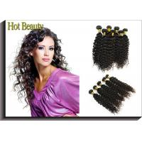 Quality Custom Natural Black Remy Virgin Human Hair Extensions Deep Wave for sale
