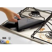 """Quality 4 Pack 10.6"""" x 10.6"""" Reusable Gas Range Liners Stovetop Burner Protectors , PTFE Coated Fabric for sale"""