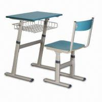 Quality Student Desk with Fireproof Desk Top, Easy to Assemble, Made of Steel Frame for sale