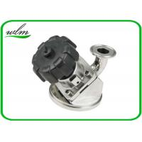 Quality Aseptic Tri Clamp Tank Bottom Valve Sanitary With Manual Turning Knob Operation for sale
