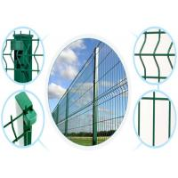 China PVC Trange Bending Wire Mesh Fence Used In Airport 5mm * 75mm * 75mm * 1.8m * 3m Panel on sale
