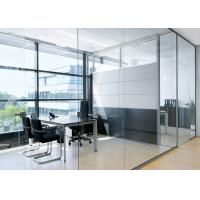 China Lighting Partition Wall Glass , Glass Office Partition Systems on sale