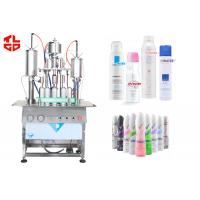 Quality 3 in 1 Body Spray Filling Machine , Deodorant Aerosol Filling And Capping Machine for sale
