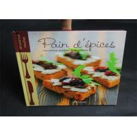 Quality Publishing 2 Color Cook Book Printing With CMYK / Pantone Color thick cardboard for sale