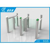 Quality Access Control Speed Gate Turnstile Half Waist For Airport / Train Station for sale