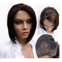 Buy Unprocessed Brazilian Virgin Lace Front Remy Wigs , Short Human Hair Lace Front Wigs at wholesale prices