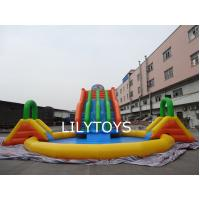 Buy cheap EN14960 PVC Inflatable  Dinosaur  Water Park  with a big swimming pool from wholesalers