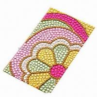 Quality Crystal/Acrylic/Gem Sticker for Mobile Phone Decoration, Measures 5.5x9.5cm for sale