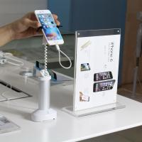 Quality COMER alarming sensor anti-thet gripper magnetic stands for mobile phone stores security for sale