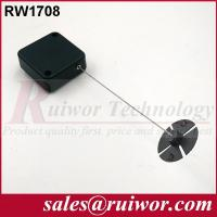 Quality Anti Theft Recoiler Security Pull Box With Gummy ABS Plate Terminals / Square Shape for sale