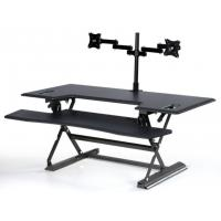 Stand Up Computer Workstationholds 2 Monitors With Retractable Keyboard Tray 48 inch