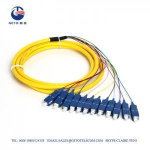 Quality High Precision SM SC 12 Core 0.3dB Fiber Optic Pigtail Single Mode for sale