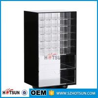 Quality Wholesale Competive Price acrylic Black Spinning Makeup Organizer for sale