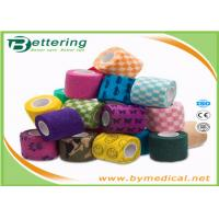 Quality First Aid Care Cohesive Bandage Wrap , Colored Self Adhering Gauze Bandage for sale