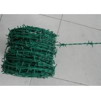 Quality Green Security Barbed Wire Roll Coil Protection For Grass Boundary for sale