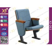 Quality Molded Foam Low Back Auditorium Seat Chairs With MDF Writing Pad Spring Return for sale
