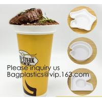 Quality Flower Shaped 330ml PP Plastic Snack Plate With Cup Holder,Disposable PS Plastic Cup Top Snack Tray,Snack Cup With Straw for sale